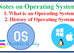 Operating System and History of Operating System
