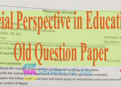 social perspectives in Education